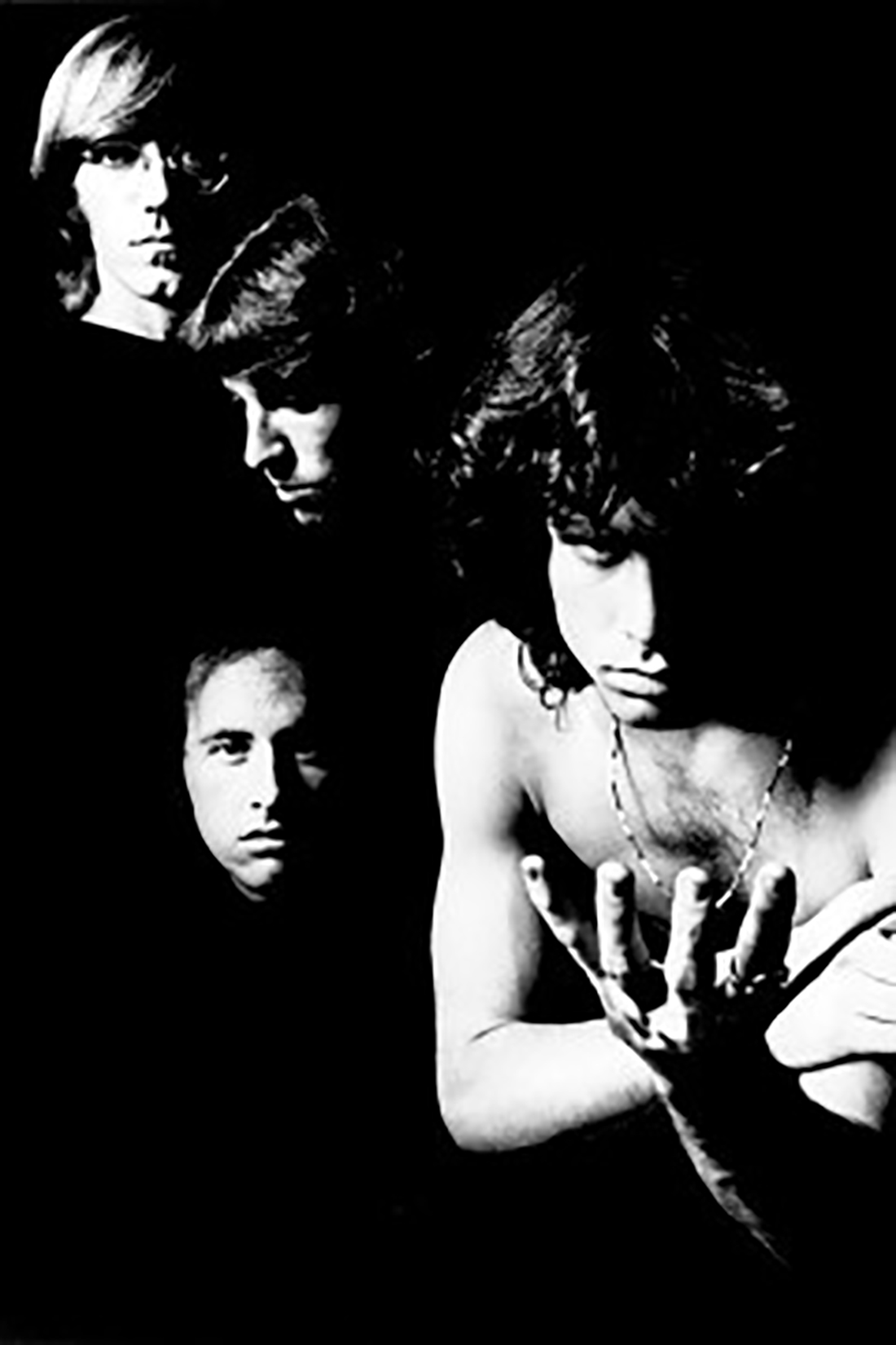 UNSPECIFIED - JANUARY 01:  Photo of DOORS; studio, posed - L-R: Ray Manzarek, Robbie Kreiger, John Densmore, Jim Morrison  (Photo by Charlie Gillett/Redferns)